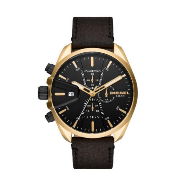 Reloj Diesel Ms9 Hombre DZ4516 Dorado esfera negra crono