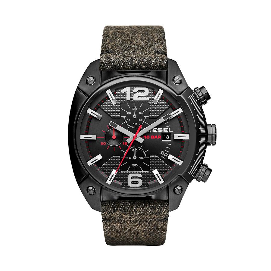 Reloj Diesel Overflow Hombre DZ4373 Acero negro correa textil