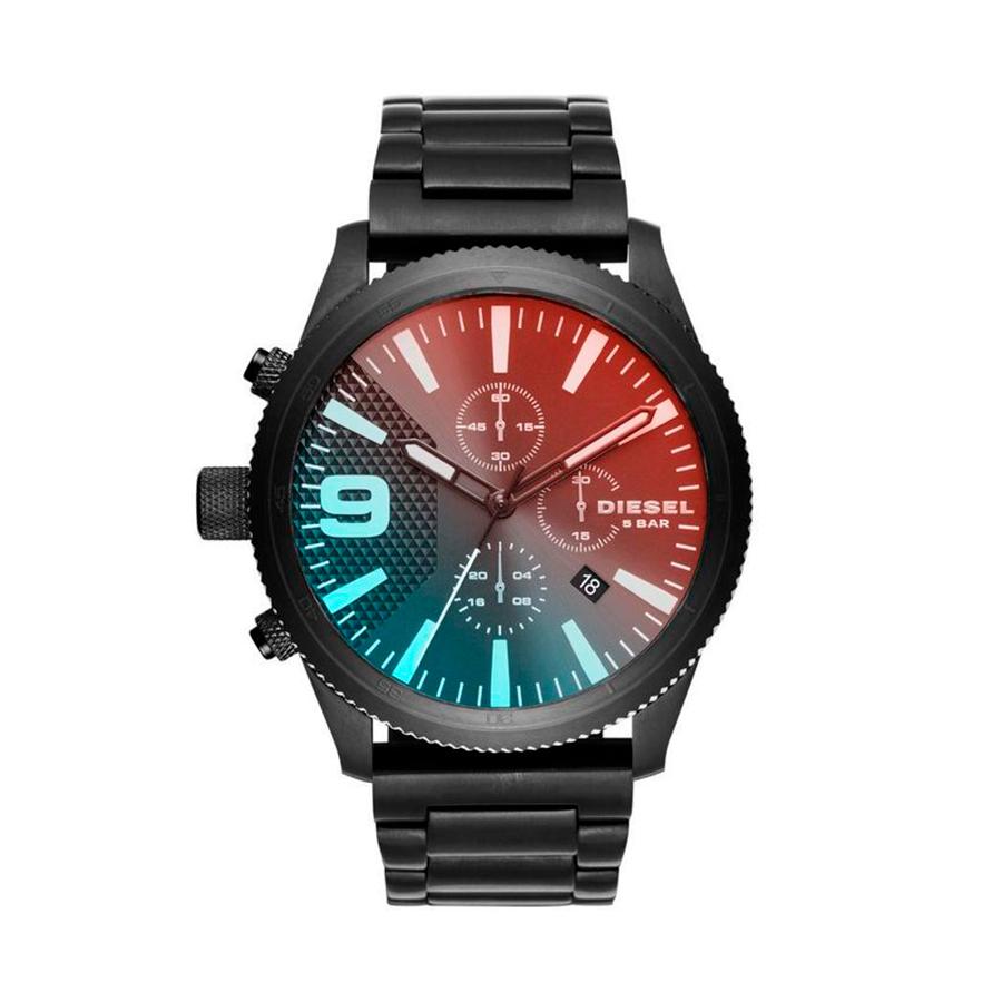 Reloj Diesel Rasp Hombre DZ4447 Acero negro cristal tornasolado