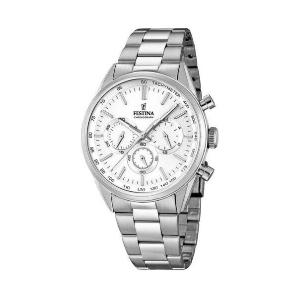Reloj Festina Chrono Hombre F16820-1 Acero esfera plata