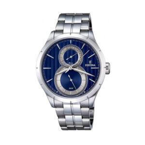 Reloj Festina Classic Hombre F16891-3 Acero con esfera azul y plata
