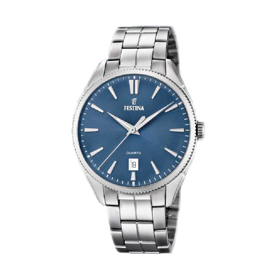 Reloj Festina Classic Hombre F16976-4 Acero esfera azul
