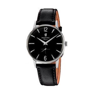 Reloj Festina Extra Hombre F20248-4 Acero esfera negra y correa piel negra