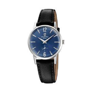 Reloj Festina Extra Hombre F20254-3 Acero esfera azul y correa piel negra