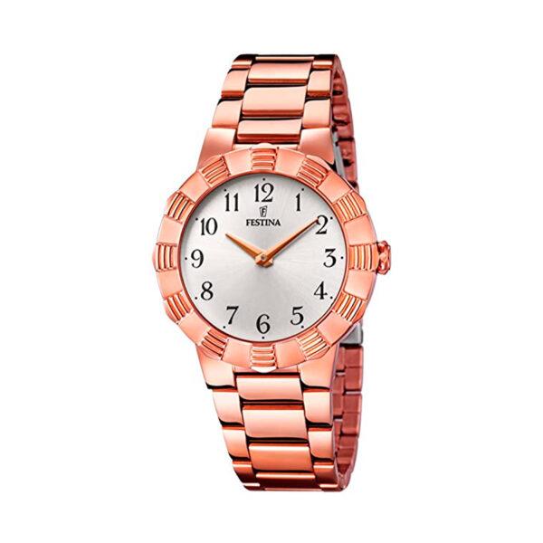 Reloj Festina Mademoiselle Mujer F16733-3 Acero rosado con esfera plata