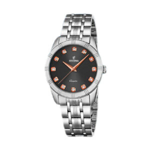 Reloj Festina Mademoiselle Mujer F16940-5 Acero esfera negra con detalles rosados