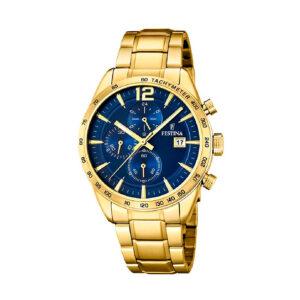 Reloj Festina The Originals Hombre F20266-2 Acero dorado esfera azul