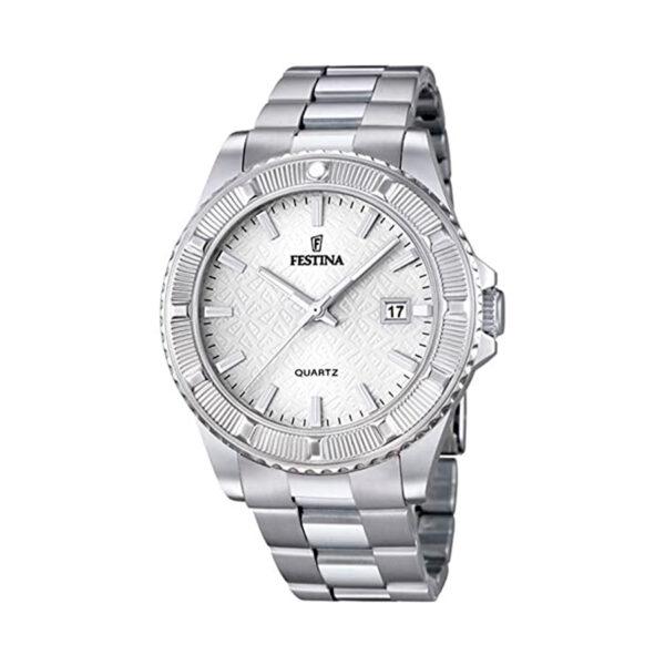 Reloj Festina Vendome Mujer F16684-1 Acero esfera plata decorada