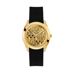 Reloj Guess Clarity Mujer GW0109L1 Dorado con correa silicona negra