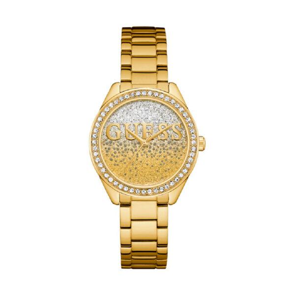 Reloj Guess Glitter Mujer W0987L2 Dorado con piedras en el bisel