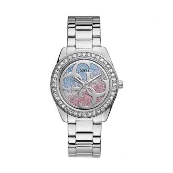 Reloj Guess Twist Mujer W1201L1 Acero con piedras en el bisel y glitz en la esfera