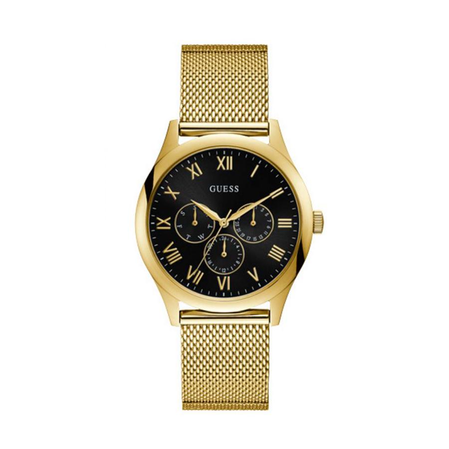 Reloj Guess Watson Hombre W1129G3 Dorado con esfera negra y correa malla