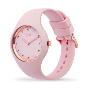 Reloj Ice Cosmos Mujer IC016299 Acero rosado con esfera rosa y ornamentada con cristales en los índices