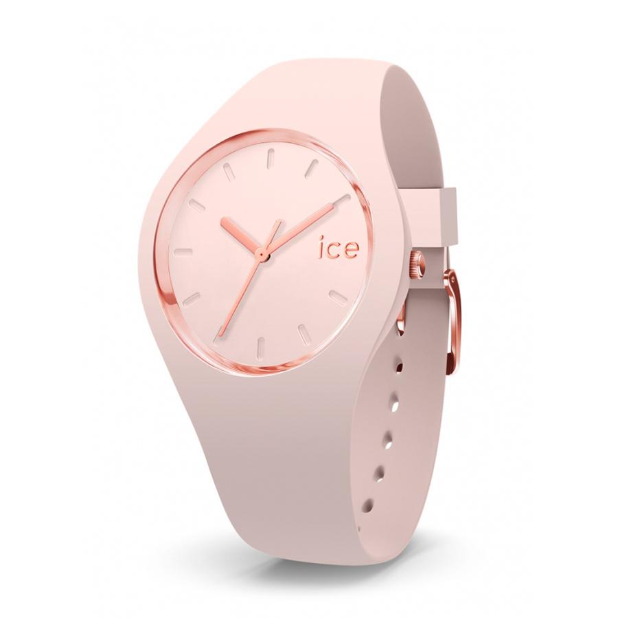 Reloj Ice Glam Colour Mujer IC015334 Acero rosado con esfera rosa y agujas rosadas con correa silicona rosa