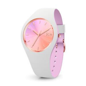 Reloj Ice Pearl Mujer IC016978 Acero con esfera gris con detalles rosados y correa silicona gris