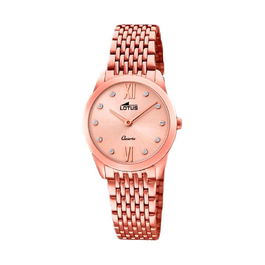 Reloj Lotus Bliss Mujer 18478-2 Acero y esfera rosada ornamentado con cristales