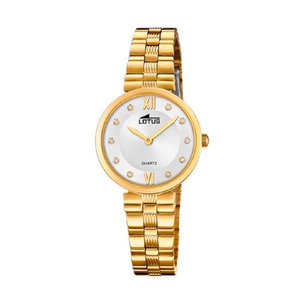 Reloj Lotus Bliss Mujer 18543-2 Acero dorado con esfera blanca y cristales
