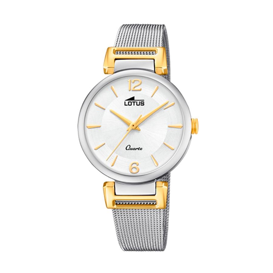 Reloj Lotus Bliss Mujer 18647-1 Acero bicolor dorado y plata con esfera blanca