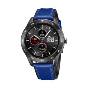 Reloj Lotus SmartWatch Hombre 50012-2 Acero negro y correa piel azul