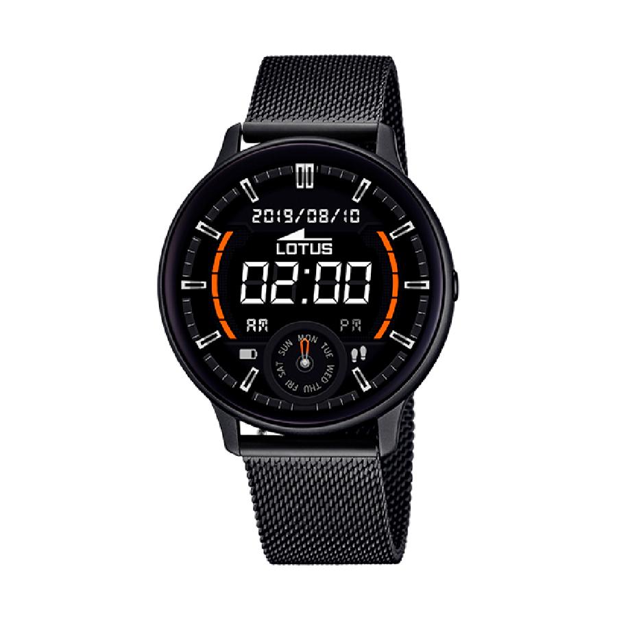 Reloj Lotus SmartWatch Hombre 50016-1 Acero negro con correa malla milanesa negra