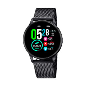 Reloj Lotus SmartWatch Unisex 50002-1 Acero negro con correa malla milanesa negra