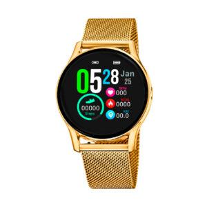 Reloj Lotus SmartWatch Unisex 50003-1 Acero con esfera táctil y correa malla milanesa acero incluye correa silicona adicional