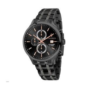 Reloj Maserati Gentleman Hombre R8873636003 Acero negro cronógrafo esfera negra con calendario