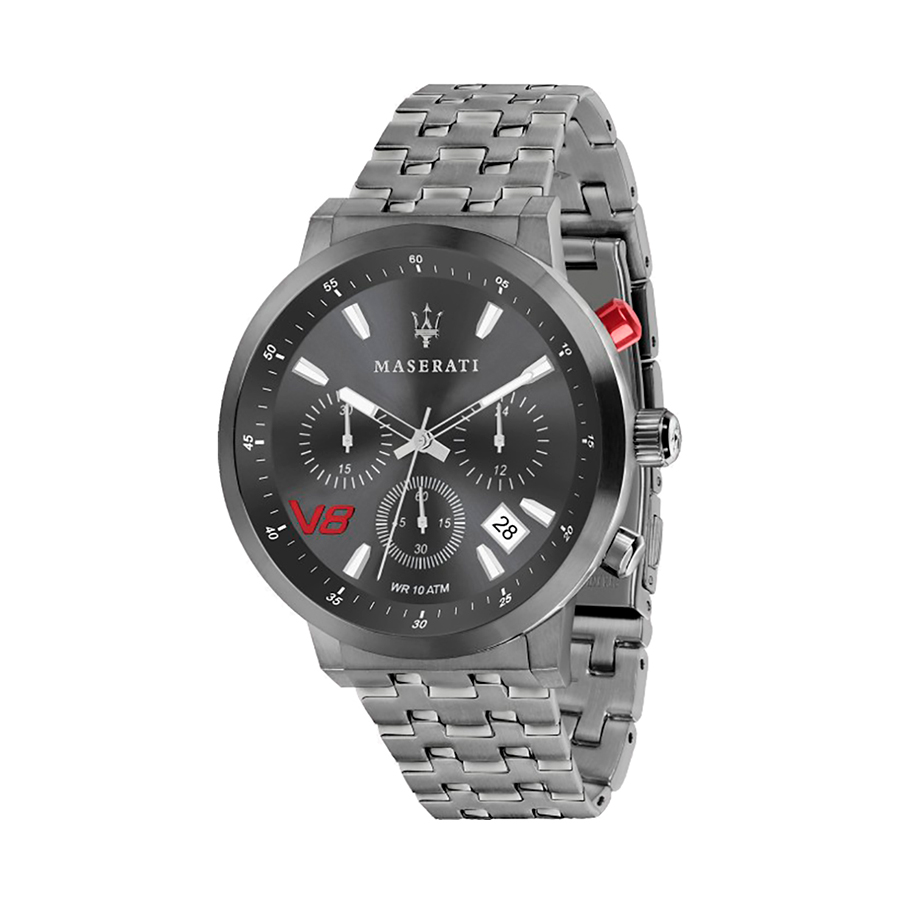 Reloj Maserati GT Gran Turismo Hombre R8873134001 Acero gris cronógrafo con calendario y esfera gris