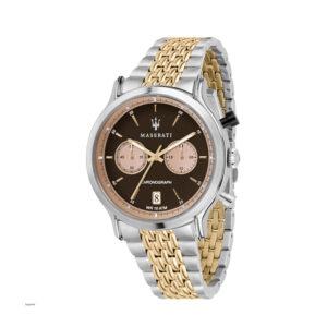 Reloj Maserati Legend Hombre R8873638003 Acero bicolor dorado y plata cronógrafo con calendario y esfera negra
