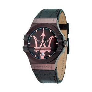 Reloj Maserati Potenza Hombre R8851108011 Acero y esfera marrón con calendario