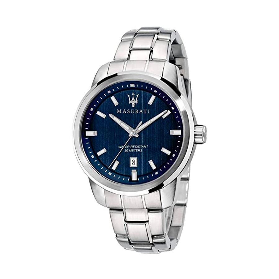 Reloj Maserati Successo Hombre R8853121004 Acero con esfera azul y calendario