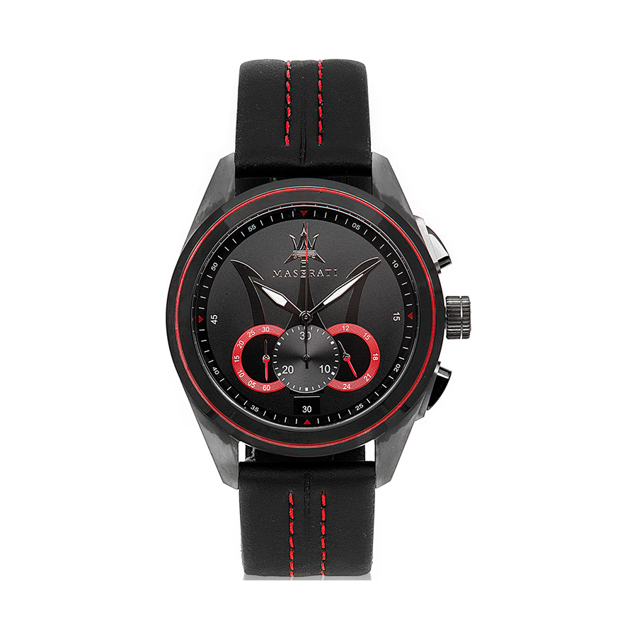 Reloj Maserati Traguardo Hombre R8871612023 Acero negro cronógrafo con esfera negra y calendario