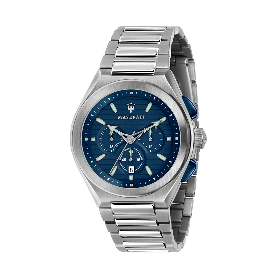 Reloj Maserati Triconic Hombre R8873639001 Acero cronógrafo con esfera azul y calendario