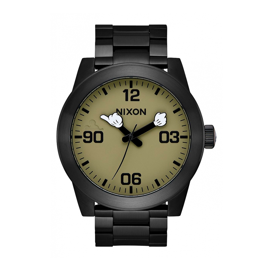 Reloj Nixon Mickey Hombre A3463094 Mickey mouse acero negro
