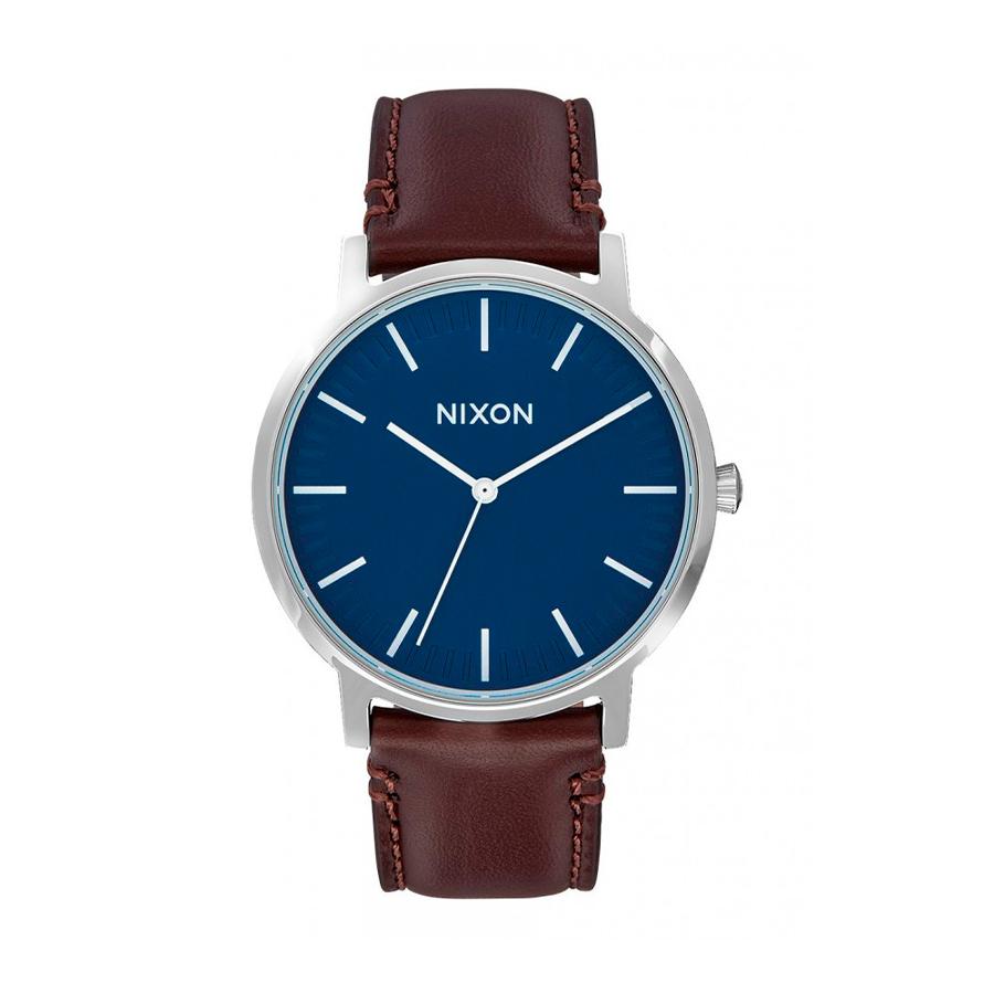 Reloj Nixon Porter Hombre A1058879 Esfera azul correa marrón