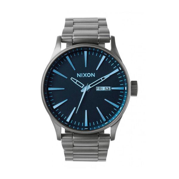 Reloj Nixon Sentry Hombre A3561427 Acero gris esfera azul