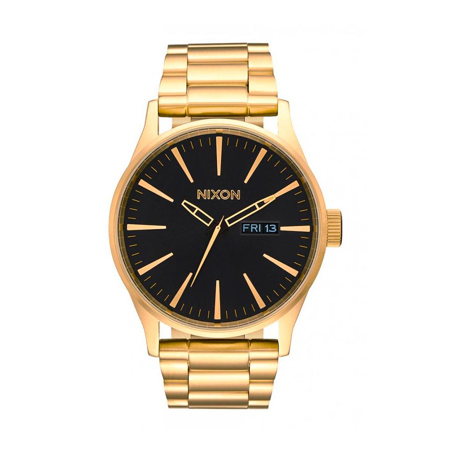 Reloj Nixon Sentry Hombre A356510 Dorado esfera negra