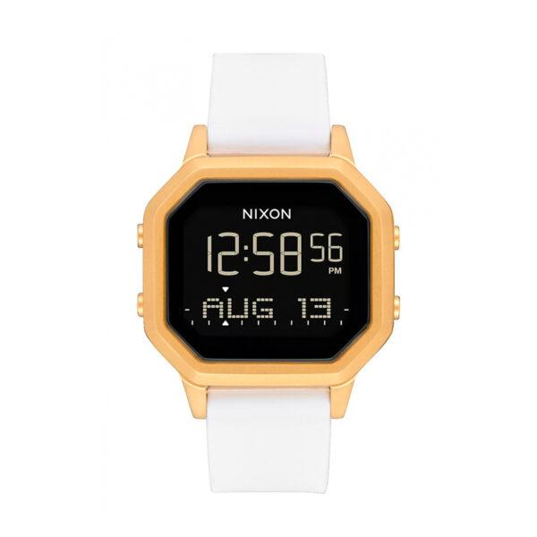 Reloj Nixon Siren Mujer A1211508 Digital correa de caucho blanco