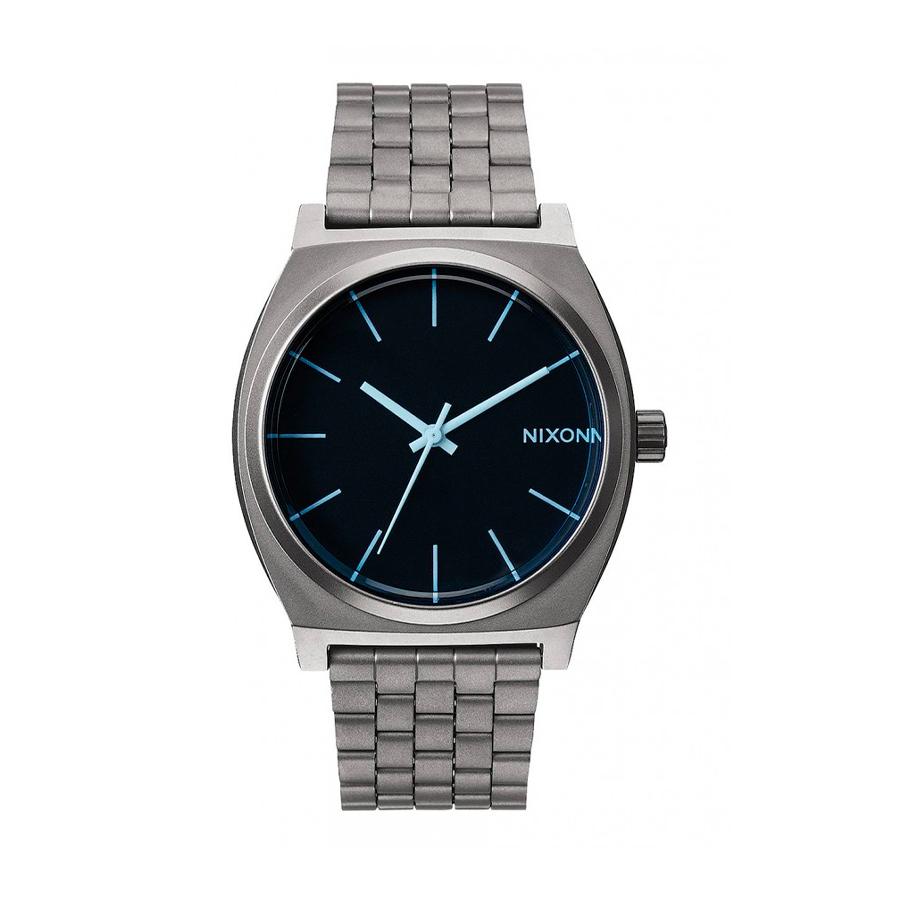Reloj Nixon Time teller Hombre A0451427 Plateado esfera azul