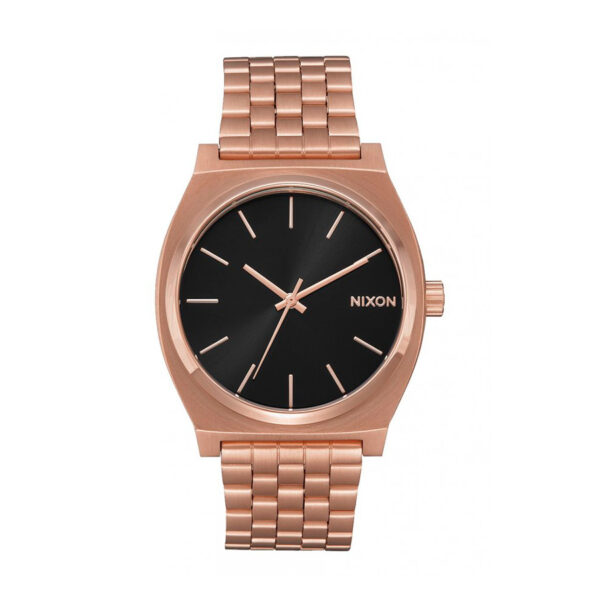 Reloj Nixon Time teller Hombre A0452598 Dorado esfera negra