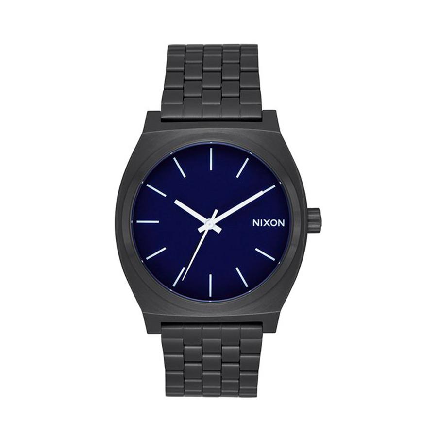 Reloj Nixon Time teller Hombre A0452668 Acero negro esfera azul
