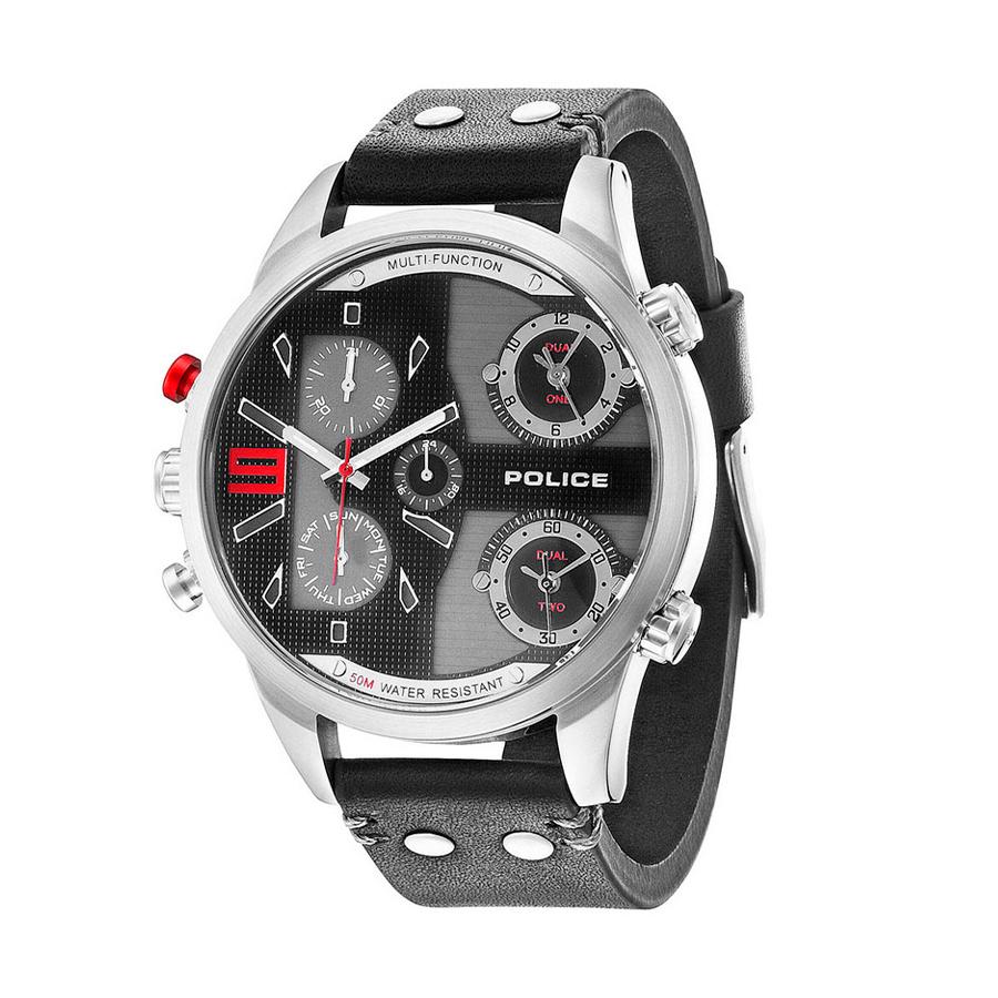 Reloj Police Copperhead Hombre R1451240001 Acero esfera multifunción con 2 movimientos bicolor negro gris