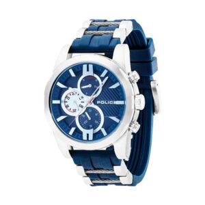 Reloj Police Matchcord Hombre R1451259001 Acero esfera multifunción con calendario y correa mixta acero y
