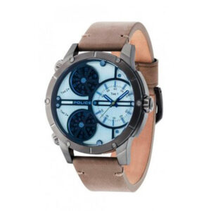 Reloj Police Rattlesnake Hombre R1451274002 Acero gris 3 movimientos analógicos correa marrón