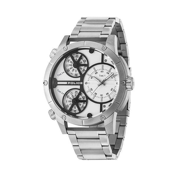 Reloj Police Rattlesnake Hombre R1453274001 Acero esfera blanca con 3 movimientos analógicos