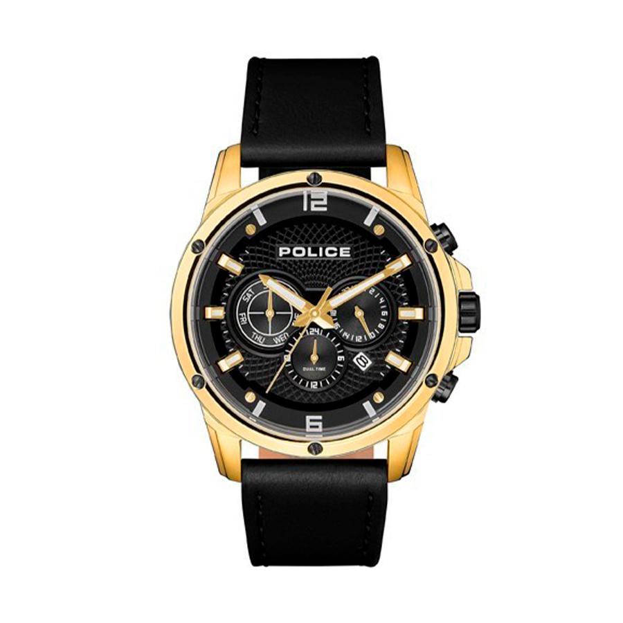 Reloj Police Shandon Hombre R1451311001 Acero dorado esfera multifunción calendario bicolor negro dorado