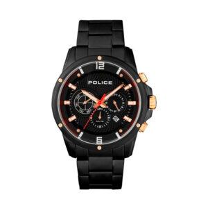 Reloj Police Shandon Hombre R1453311001 Acero negro esfera multifunción calendario negro segundero rojo