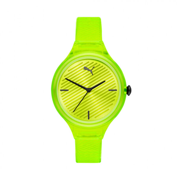 Reloj Puma Contour Mujer P1017 Analógico correa amarilla