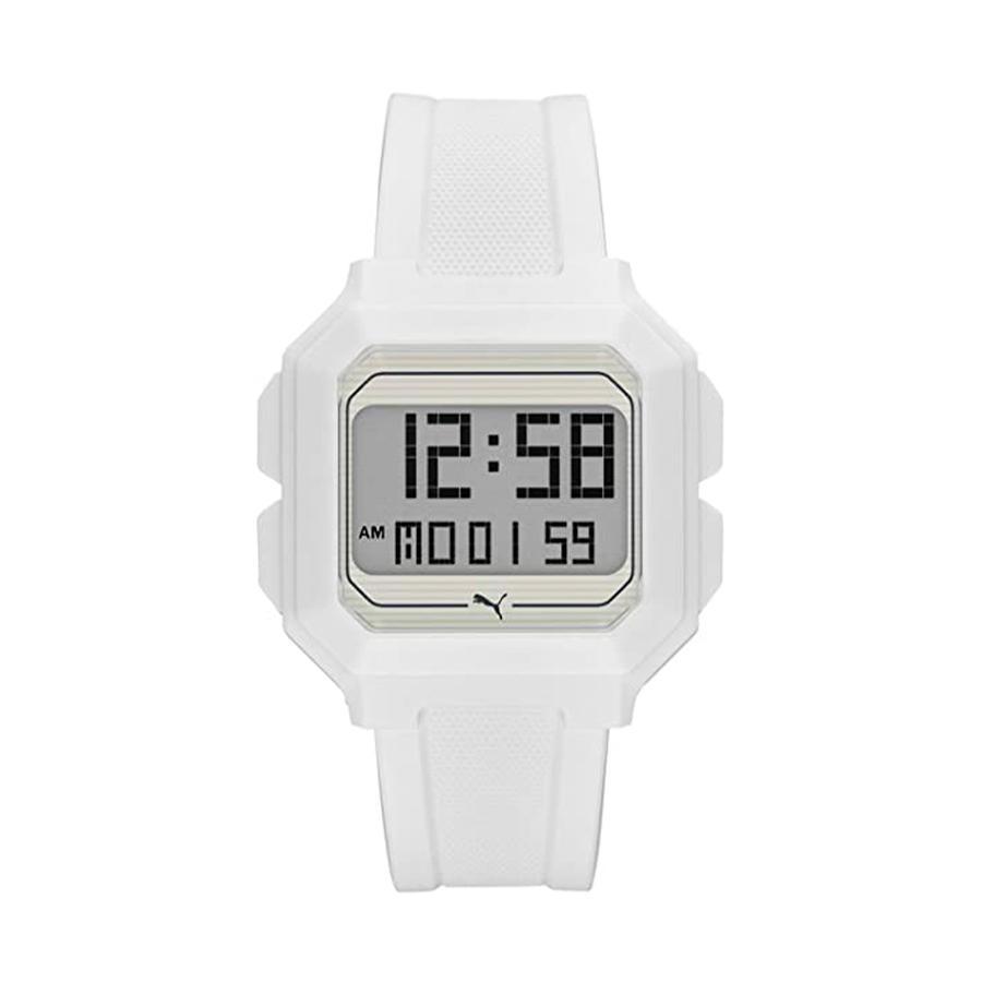 Reloj Puma Remix Hombre P5018 Digital correa blanca