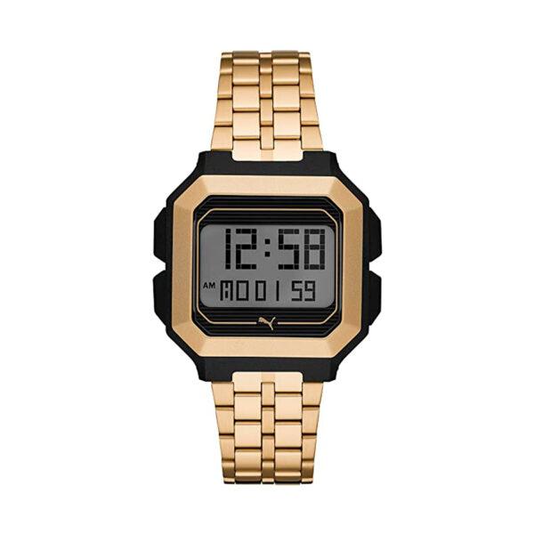 Reloj Puma Remix Unisex P5016 Digital dorado